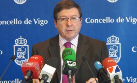 O voceiro municipal do PSOE, Carlos López Font, hoxe/CV