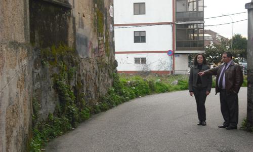A entrada ao barrio de Cidadelle, en Chapela.