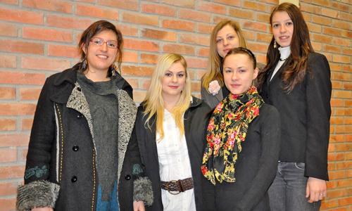 Un grupo de estudiantes alemanas que participa en el programa.