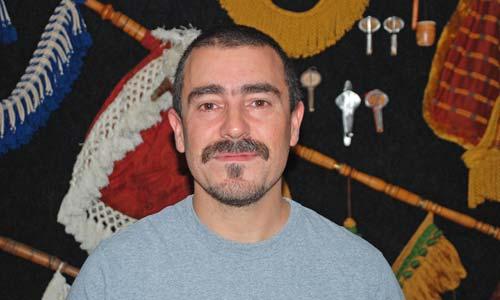 O artesán e investigador Pablo Carpintero.