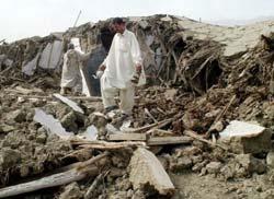 Los destrozos causados en el último terremoto.