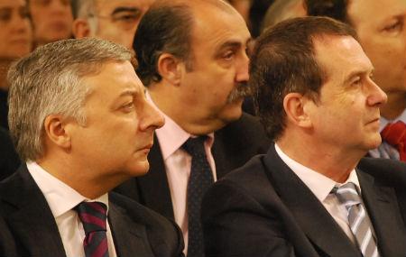 El ministro Blanco y el alcalde, en la presentación de la nueva estación de Urzáiz