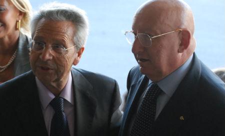 Julio Fernández Gayoso y Mauro Varela, copresidentes de Novacaixagalicia