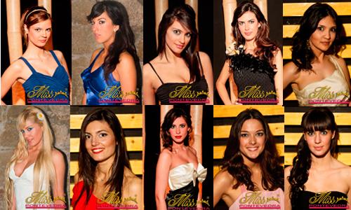 Susana Caride (24); Alba López (20), Miss Tui; Andrea Novo (20); Angélica González (25); Rocío Díaz (24); Melisa Arias (20); Mila Pereira (27), Miss Ponteareas; Noelia Fonseca (21); Laura Martínez (24); y Sandra Corral (22).