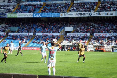 Nuestro lector Javier Rodríguez pudo disfrutar del partido gracias a las entradas que ganó por acertar la porra de la Copa del Rey. Foto: Javier Rodríguez.