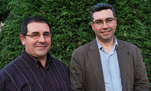 Miguel Ángel Álvarez con Javier Bas.