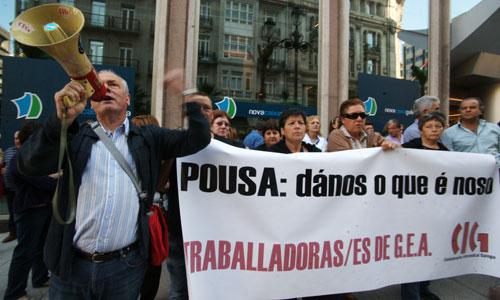Ex trabajadores de GEA se concentraron en Colón.