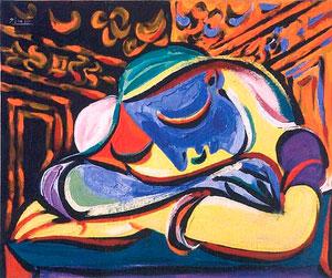 El cuadro donado es 'Jeune en dormile'.