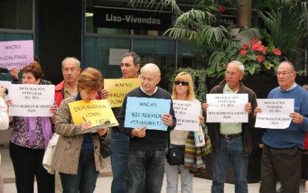 Una de las protestas contra la depuradora.