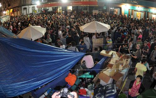 Las acampadas se prolongarán durante toda la jornada. Fotos: Miguel Núñez
