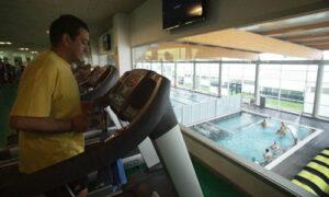 Santi Domínguez, en el complejo deportivo Máis que auga.