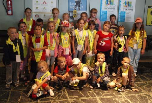 22 niños visitan por primera vez Galicia.