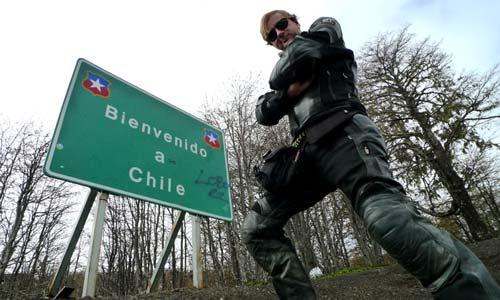 Fabián C. Barrio, a su llegada a Chile.