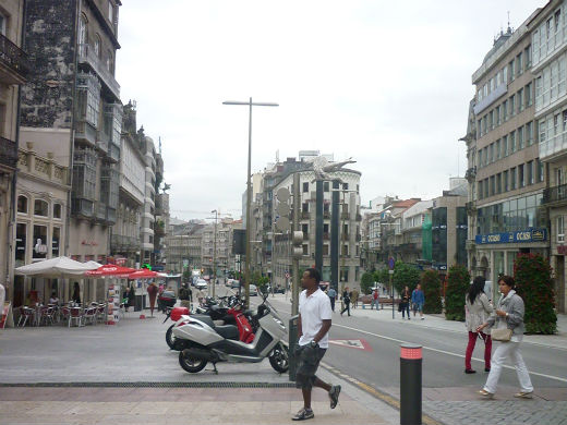 Cielo nublado esta mañana en la Porta do Sol de Vigo