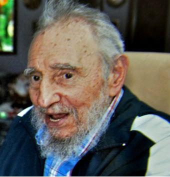Una de las últimas fotos difundidas de Fidel Castro