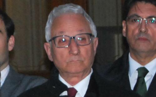 O xuiz Gonzalo de la Huerga, un dos tres redactores da sentenza, xunto cos maxistrados Claudio Movilla e Ricardo Leirós/Tresyuno Comunicación