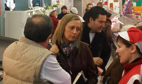 Elena Muñoz, este jueves en el Mercado de Teis