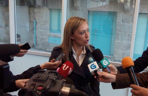 Elena Muñoz, este lunes en el nuevo edificio de Notificaciones y Embargos/Tresyuno Comunicación
