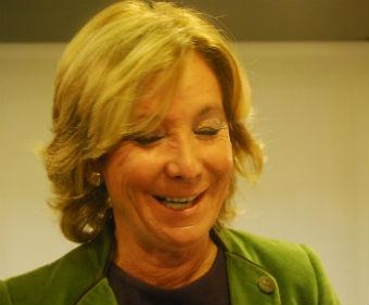 Esperanza Aguirre, durante un viaje a Vigo/Tresyuno Comunicación