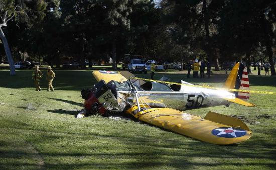 Estado en el que quedó la avioneta de Harrison Ford