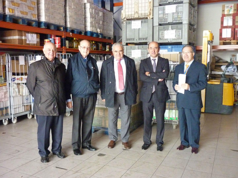 visita responsables asociación consignatarios buques y navieras nave Banco Alimentos Vigo II