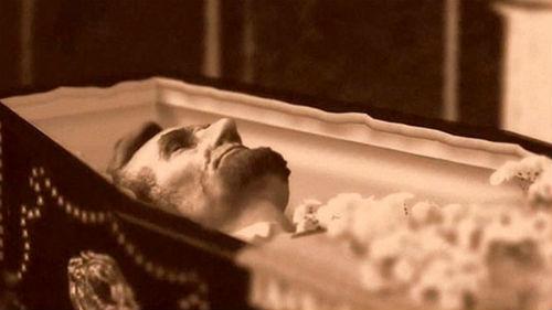 Única foto que existe del presidente Lincoln en su ataud