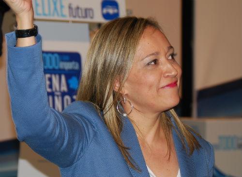 Elena Muñoz, candidata del PP a la Alcaldía de Vigo, este viernes/Tresyuno Comunicación
