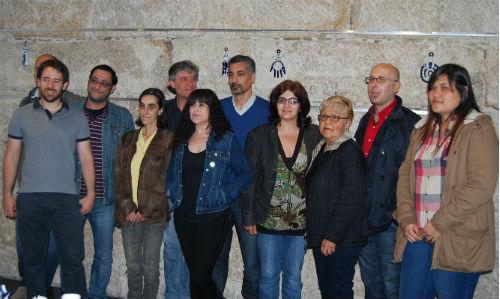 Parte de los integrantes de la candidatura de Equo-Piratas, este miércoles en Vigo/Tresyuno Comunicación