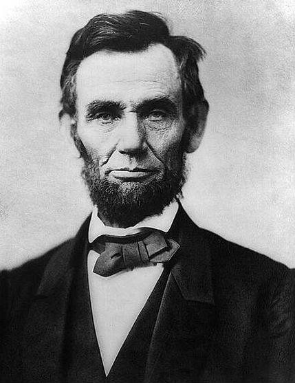 Foto de Lincoln sin retocar