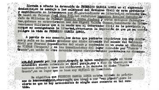 Documento al que ha tenido acceso la Cadena Ser y que el Ministerio de Cultura asegura que desconoce