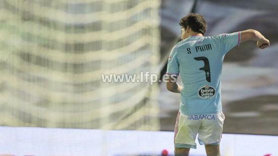 Santi Mina, autor de 4 goles, este sábado en Balaídos