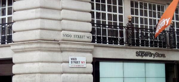 Vigo Street, en pleno centro de Londres/Tresyuno Comunicación