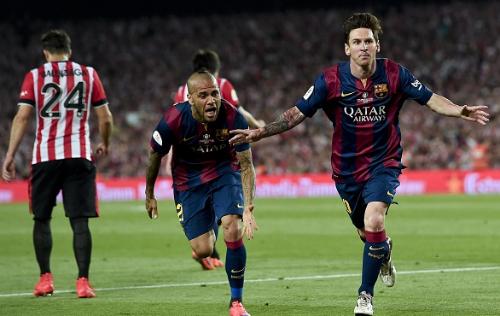 Messi marcó dos de los tres goles del Barça/Foto: Twitter