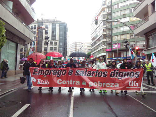 Manifestación de la CIG/Tresyuno Comunicación