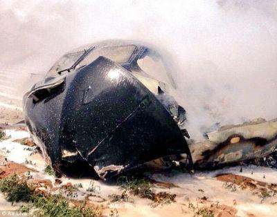 El Airbus_A400M tras el accidente en el que murieron 4 de sus 6 ocupantes