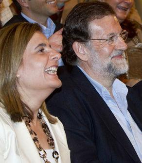 La ministra de Empleo, Fátima Báñez, y el presidente Rajoy