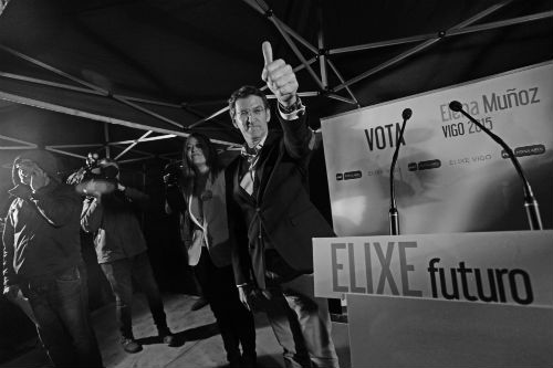 El presidente Feijóo, en Vigo/FOTO: FELIPE CARNOTTO
