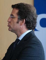 EL presidente del Gobierno de Galicia, institución que aprobó 77,4 millones en obras los meses antes de la Elecciones, un 217% más que en 2014/Tresyuno Comunicación