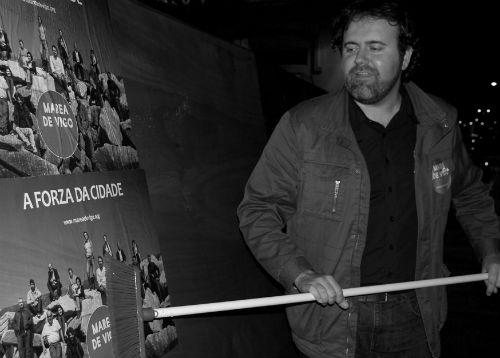 Rubén Pérez, alcaldable de Marea de Vigo/Tresyuno Comunicación