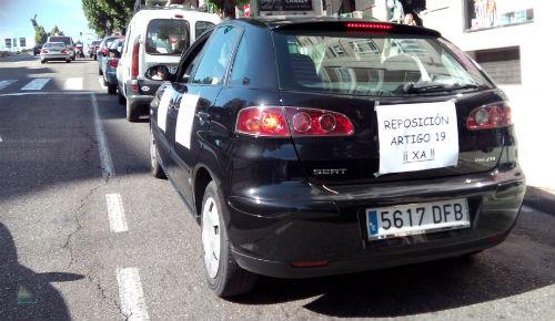 Protesta, en Vigo, por Gran Vía, este jueves por la mañana/Tresyuno Comunicación