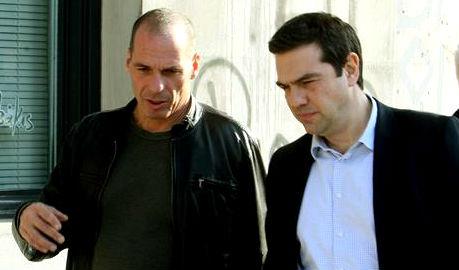El ministro Varoufakis y el primer ministro Tsipras