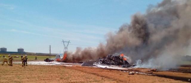 El avión siniestrado/Imagen: sevilladirecto.com