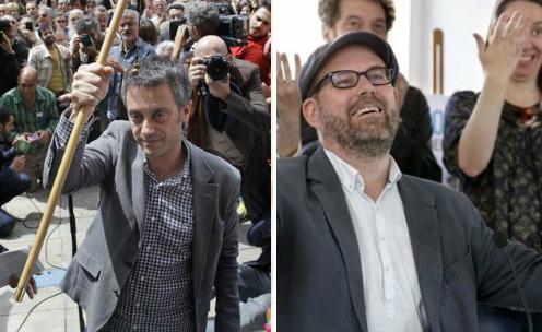 Xulio Ferreiro e Martiño Noriega, novos alcaldes de A Coruña e Santiago/ Fotos: Twitter