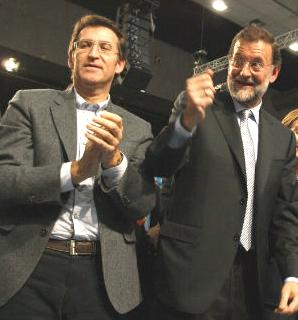 Feijóo y Rajoy en un mitin en Vigo (archivo)/Tresyuno Comunicación