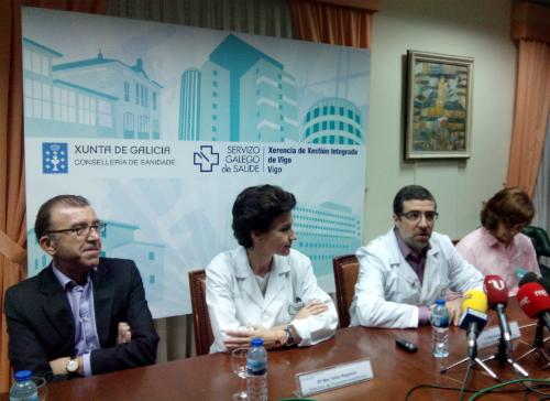 El gerente del CHUVI, explicando el plan de traslado al nuevo hospital/Tresyuno Comunicación