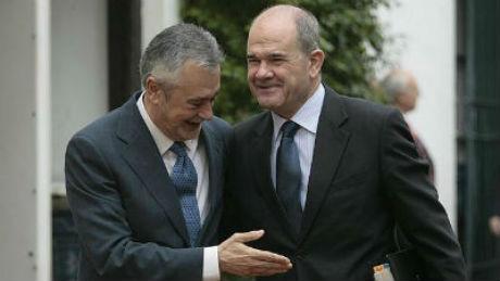 Los ex presidente de la Junta de Andalucía, Griñán y Chaves