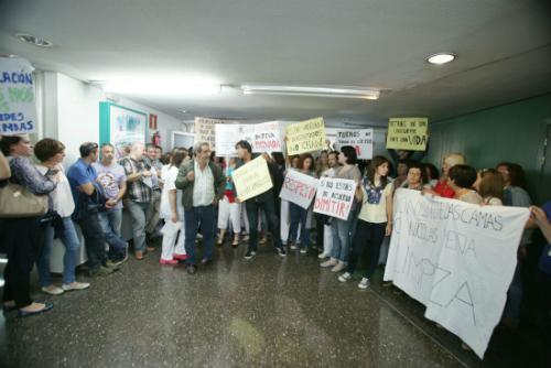 Protesta polo peche de camas