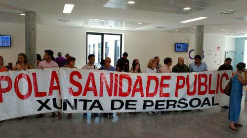 Protesta en nuevo hospital/Tresyuno Comunicación