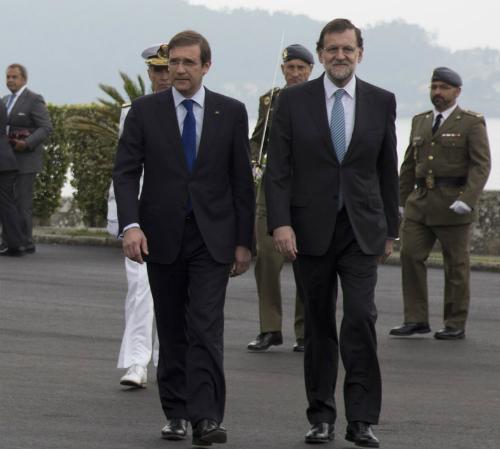 El primer ministro Passos Coelho y el presidente Rajoy