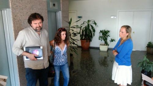 Rubén Pérez y Elena Muñoz, portavoces de A Marea y el Partido Popular, este miércoles en el Concello/Tresyuno Comunicación